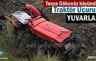 Tosya Gökceöz Köyünde Traktör Uçuruma Yuvarlandı