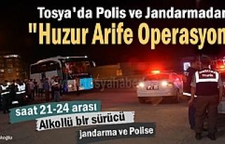 Tosya'da ''Huzur Arife Operasyonunda'' Alkollü...