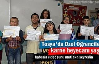Tosya'da Özel Öğrenciler Tatil ve Karne heyecanı...