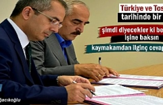Türkiye ve Tosya tarihinde bir ilk gerçekleşti