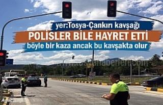 Tosya-Çankırı kavşağında Polisleri bile şaşırtan...