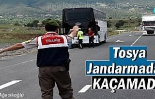 Tosya İlçe Jandarma ekipleri kaçan kişiyi yakaladı