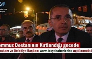 Tosya Kaymakamı ve Belediye Başkanı tosyahaberleri.com...