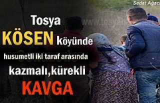 Tosya Kösen Köyünde husumetli iki taraf arasında...