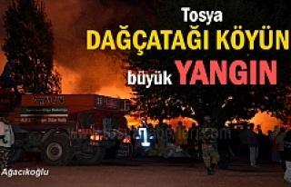 Tosya'da Dağçatağı köyünde 10 ev 5 samanlık...