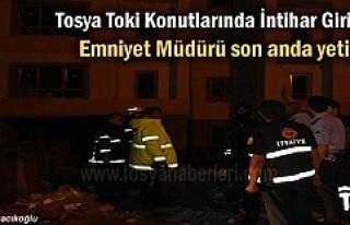 Tosya'da İntihar Etmek İsteyen şahsı Emniyet...