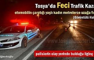 Tosya'da otomobilin çarptığı yaşlı kadın...
