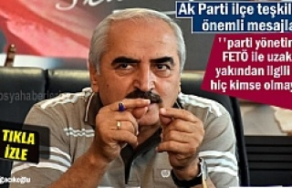 KAZIM ŞAHİN'DEN AK PARTİ İLÇE TEŞKİLATINA...