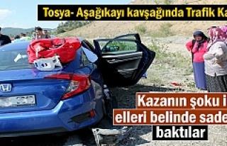 Tosya - Aşağıkayı Köyü Kavşağında Trafik...