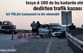 TOSYA D-100'DE ZİNCİRLEME TRAFİK KAZASI