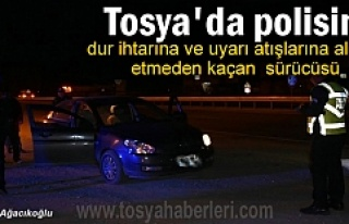 Tosya'da Polisin Dur ihtarına uymayan kişi...