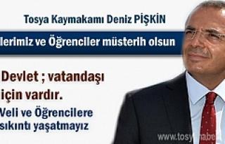 Tosya Kaymakamı Deniz Pişkin 2017-2018 Eğitim yılı...