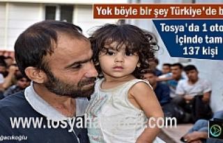 Türkiye'de bir ilk Otobüs içinde 137 kişi...