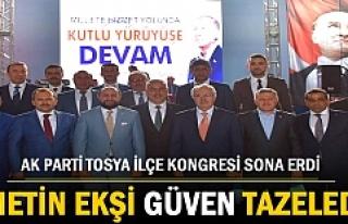 AK Parti 6.Tosya İlçe Kongresinde Metin Ekşi Güven...