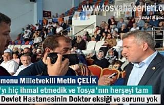 Metin Çelik Ak PArti Tosya Kongresinde açıklamalarda...