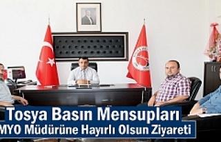 Tosya Basınından MYO Müdürüne Hayırlı Olsun...