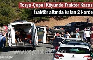 Tosya-Çepni Köyü yolunda meydana gelen Traktör...