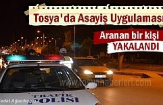 Tosya'da Asayiş Uygulamasında aranan şahıs...
