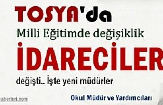 Tosya'da Okul Müdürleri ve İdareciler Görev...