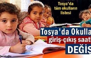 TOSYA'DA YENİ EĞİTİM YILINDA OKULLARIN GİRİŞ-ÇIKIŞ...