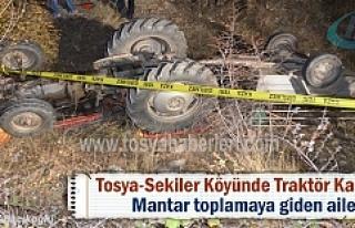 Tosya Sekiler köyünde Traktör Kazası 1 kişi hayatını...