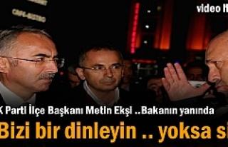 Ak Parti İlçe Başkanı Metin Ekşi Kavşak sorununu...