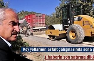 Başkan Kazım Şahin Köy Yolları Asfaltını İnceledi