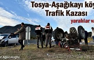 Tosya - Aşağıkayı Köyü kavşağı Korkunç Trafik...