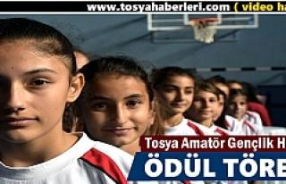 Tosya'da Amatör Spor Haftası etkinlikleri kupa...