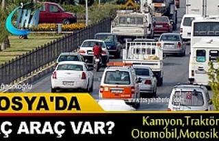 Tosya'da Araç Sayısında ilginç istatistik