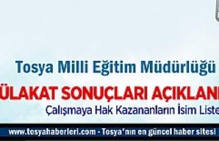Tosya Milli Eğitim Müdürlüğü İŞ-KUR sonuçları...