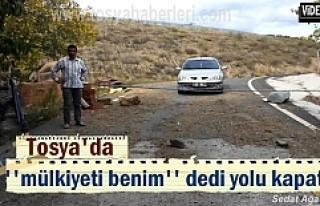Tosya'da bir vatandaş köy yolunu demir borularla...