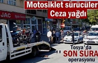 Tosya'da '' Son Sürat'' Trafik uygulamasında...