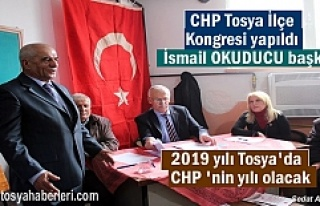 CHP Tosya İlçe Olağan Kongresinde İlçe Başkanlığına...