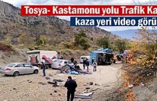 Tosya-Kastamonu Yolu Trafik Kazası 3 yaralı