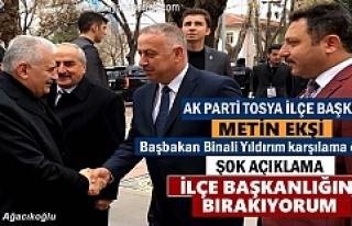 AK PARTİ TOSYA İLÇE BAŞKANI METİN EKŞİ ''BIRAKIYORUM...