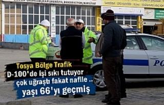 Tosya Bölge Trafik 66 yaşındaki Sürücüyü Trafikden...