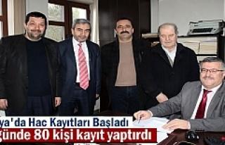 Tosya'da ilk 2 günde Hac Kayıtlarına rekor...