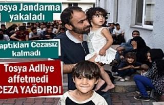 Tosya'da Mülteci kaçakçılığı yapan 2 kişiye...