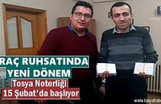 ARAÇ RUHSAT İŞLEMLERİ ARTIK TOSYA NOTERLİĞİNDE...