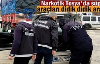 Narkotik ve Bölge Trafik Tosya D-100'de şüpheli...