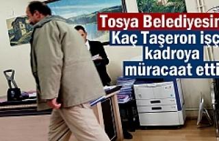 Tosya Belediyesinde Taşeron Kadro müracaatında...
