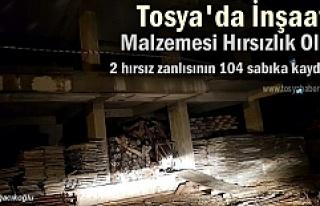 Tosya'da İnşaatlarda Hırsızlık yapan 2 kişi...