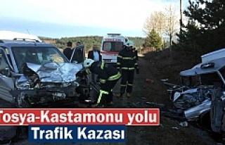 Tosya-Kastamonu Yolunda Trafik Kazası 1 kişi hayatını...