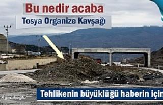 Tosya Organize Sanayi Kavşağında büyük tehlike