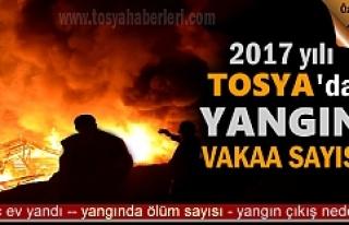 2017 YILINDA TOSYA'DA YANGIN VAKAA SAYISINDA...