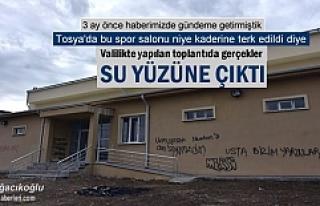 3 AY ÖNCE GÜNDEME GETİRDİĞİMİZ SPOR SALONUNUN...