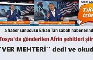 A HABER SUNUCUSU ERKAN TAN SABAH HABERLERİNDE TOSYA'DAN...