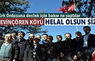SEVİNÇÖREN KÖYÜNE ''HELAL OLSUN''