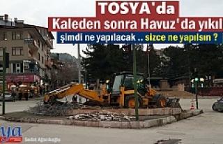 TOSYA CUMHURİYET MEYDANINDA KÖKLÜ REVİZYONA GİDİLİYOR